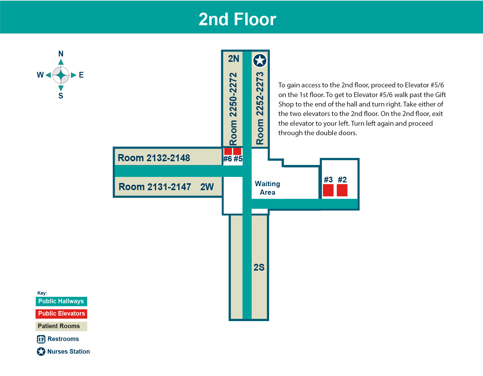 FHN Memorial Hospital second floor layout