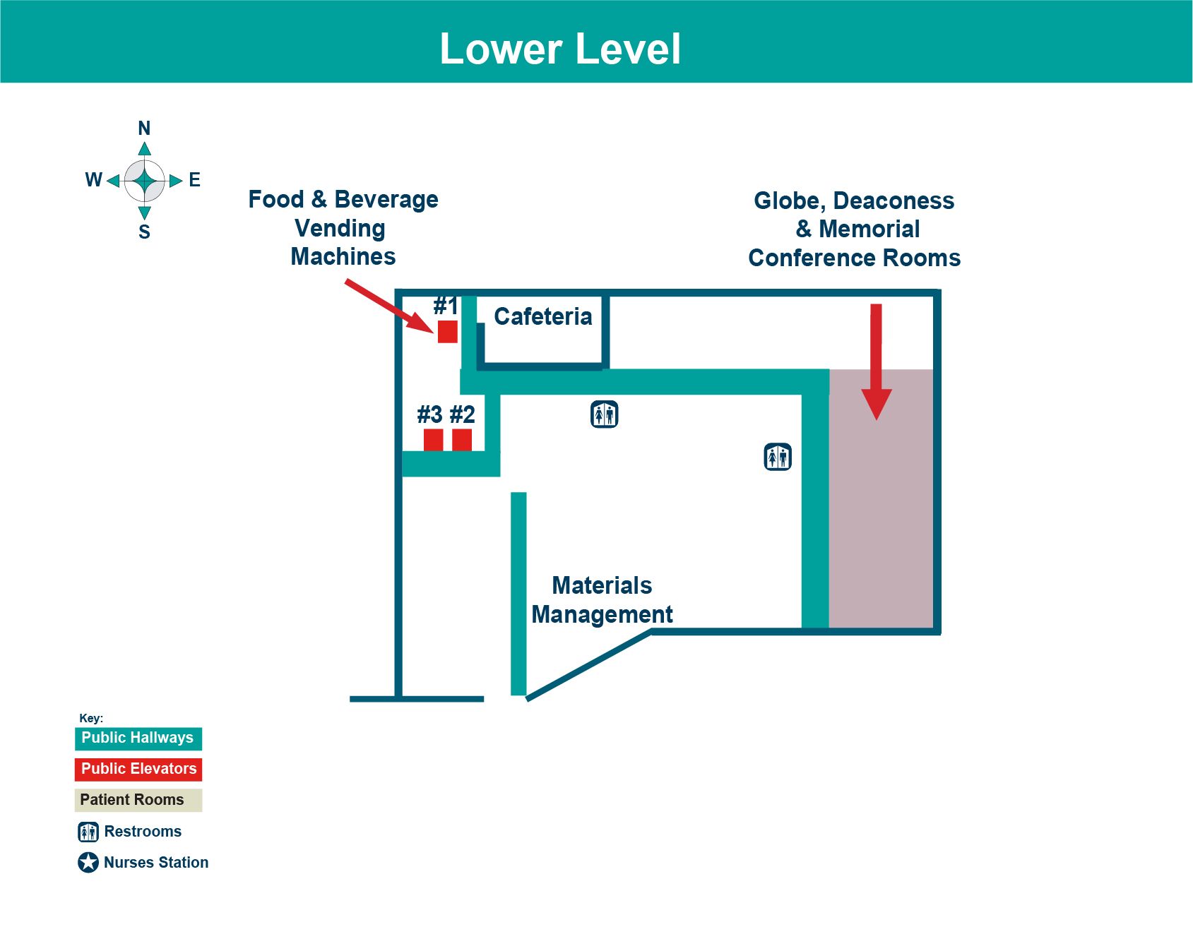 FHN Memorial Hospital lower level layout